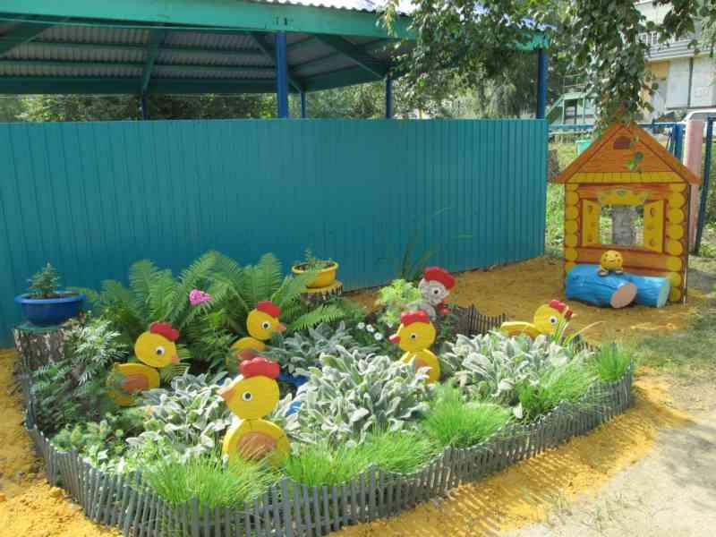 Мой детский сад оформление участка своими руками 264
